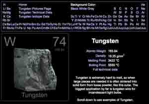 Chinatungsten tungsten facts tungsten element facts including the tungsten element facts and the periodic table urtaz Image collections