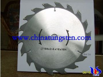 Circular Saw Blade With Tungsten Carbide Tipped Teeth