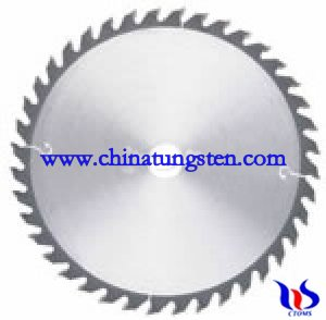 Tungsten carbide tipped saw blade