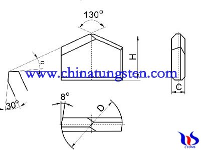 Tungsten carbide cutter tips