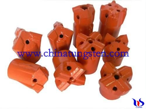 tungsten carbide blast furnace taphole bits